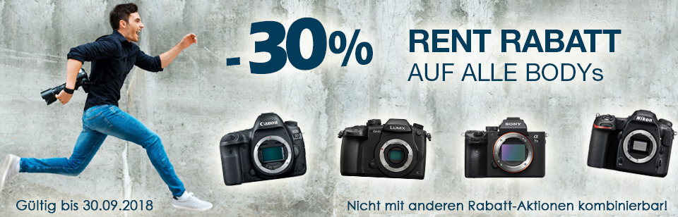 September Aktion im RENT: 30% Rabatt auf alle Bodys